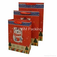 Printed Luxury Christmas Gift Paper Bag