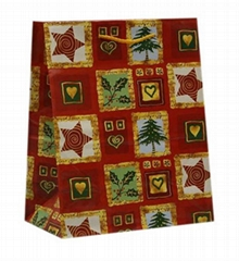 Fancy Christmas Wrap Gift Paper Bag