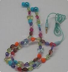 JEP-523 Pearl earphone Jewelry Necklace Earphone