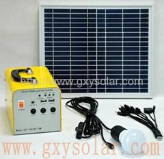 7.5AH家用太阳能发电系统10W