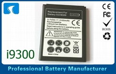 2100mAh i9300 Samsung Phone Battery Replacement With EB-L1G6LLU