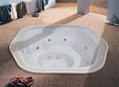 Commercial use inground spa for 7 person built-in hot tub