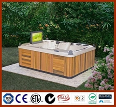 """Theater series 6 person 32"""" TV spa with TV outdoor spa hot tub"""