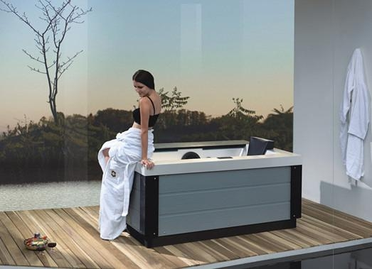 Elegant series for 1 person outdoor and indoor spa acrylic hot tub ...