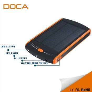 Hot 23000mAh Solar Power Bank for Laptop 12V 16V 19V 1
