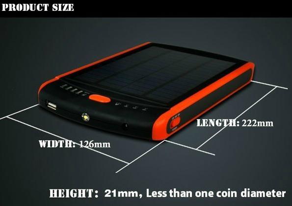 Hot 23000mAh Solar Power Bank for Laptop 12V 16V 19V 2