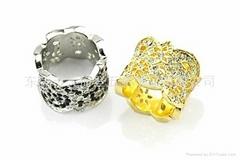 新款潮流锌合金戒指