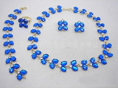新款韩版宝石套装项链