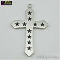stainless steel cross pendant