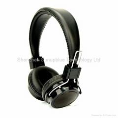 Stereo bluetooth headphones with FM radio