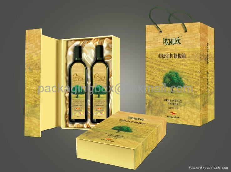 custom gift cardboard olive oil packaging boxes company in china 1