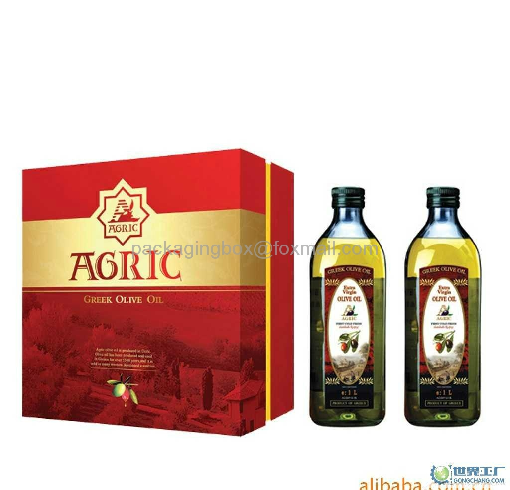 custom gift cardboard olive oil packaging boxes company in china 5