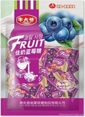 Milk Blueberries Fruit Juicy Candies made in China