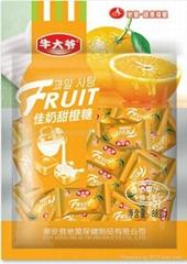 Milk orange flavor Fruit Juicy Candies made in China