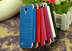 New Snakeskin Wallet Leather+mirror face Case for samsung galaxy s4 i9500