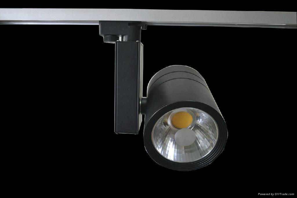 full black LED Track Light 30w 1