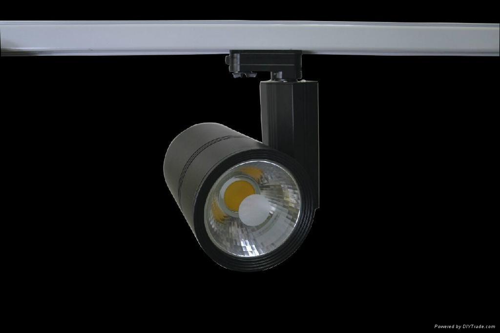 full black LED Track Light 30w 2