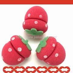 草莓捲髮球
