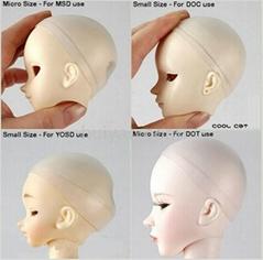 BJD Head Soft Silicone Wig Cap