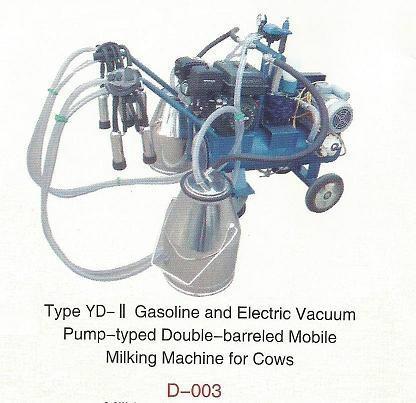 Vacuum Pump-typed Advanced Moblie Milking Machine(gasoline,diesel) 1