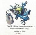 Vacuum Pump-typed Advanced Moblie Milking Machine(gasoline,diesel) 3
