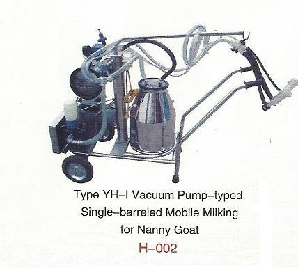 Vacuum Pump-typed Advanced Moblie Milking Machine for Nanny Goat 2