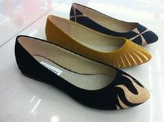 kingway女平底單鞋 女單鞋 女絨皮單鞋