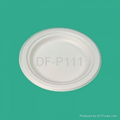 "6""  Bagasse Plate (wide"