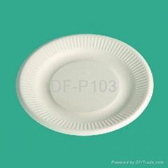 "8""  Bagasse Plate (rippled edge)"