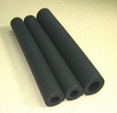 Elastomeric closed cell rubber foam pipe