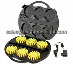 Rechargeable LED Warning Lamp Flare Kit Set Case