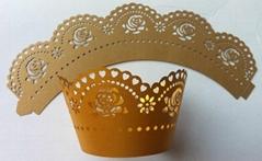 Laser cut paper cupcake wrapper