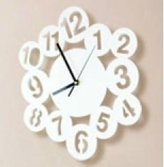 Clock deco acrylic wall sticker