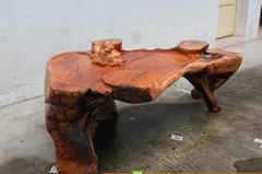 老挝花梨雕茶台