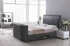 Modern Designs Leather Bed Designs TV Bed TB005-2