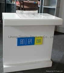 Cosmetic counter display with mirror