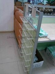 Metal wire display rack