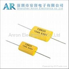Matallized Polypropylene film capacitor Axial type