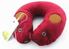 Neck massager pillow with music speaker