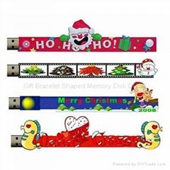 Christmas Gift Bracelet Shaped Memory Disk CH24