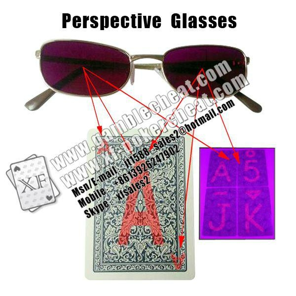 IR invisible glasses for marked cards 1