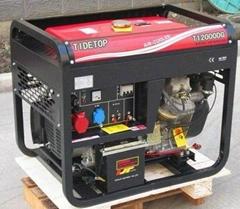 双缸风冷电启动的10KW柴油发电机