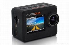 High Quality 1080P Sports Action Camera Cubiccam