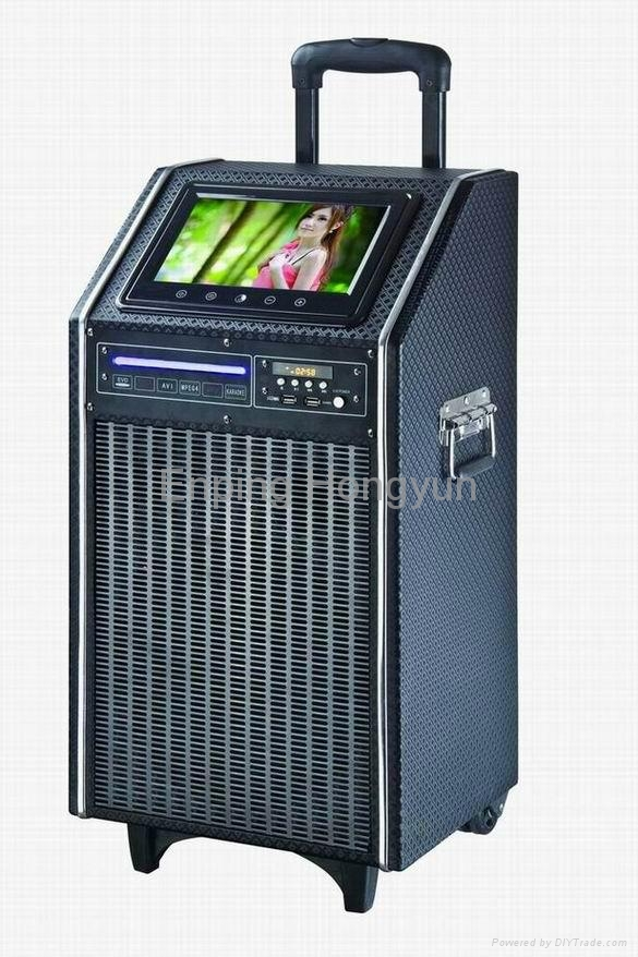 Portable PA sound system 9 inch LCD DVD player TV-910D 1