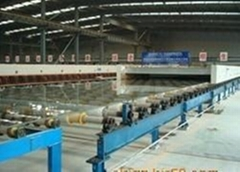 horizontal drawing glass production line