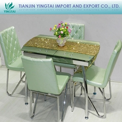 2013 Newly listed high quality handmade adjustable  glass dining table
