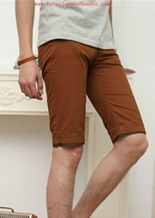 Wholesale Fashion Essential Knee Length Brown Shorts for Man