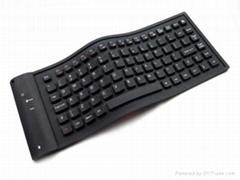87-key flexible bluetooth keyboard