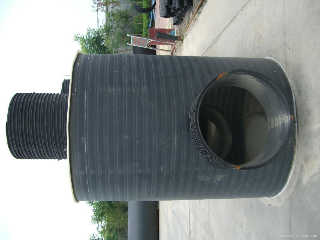 HDPE聚乙烯塑鋼纏繞管 1