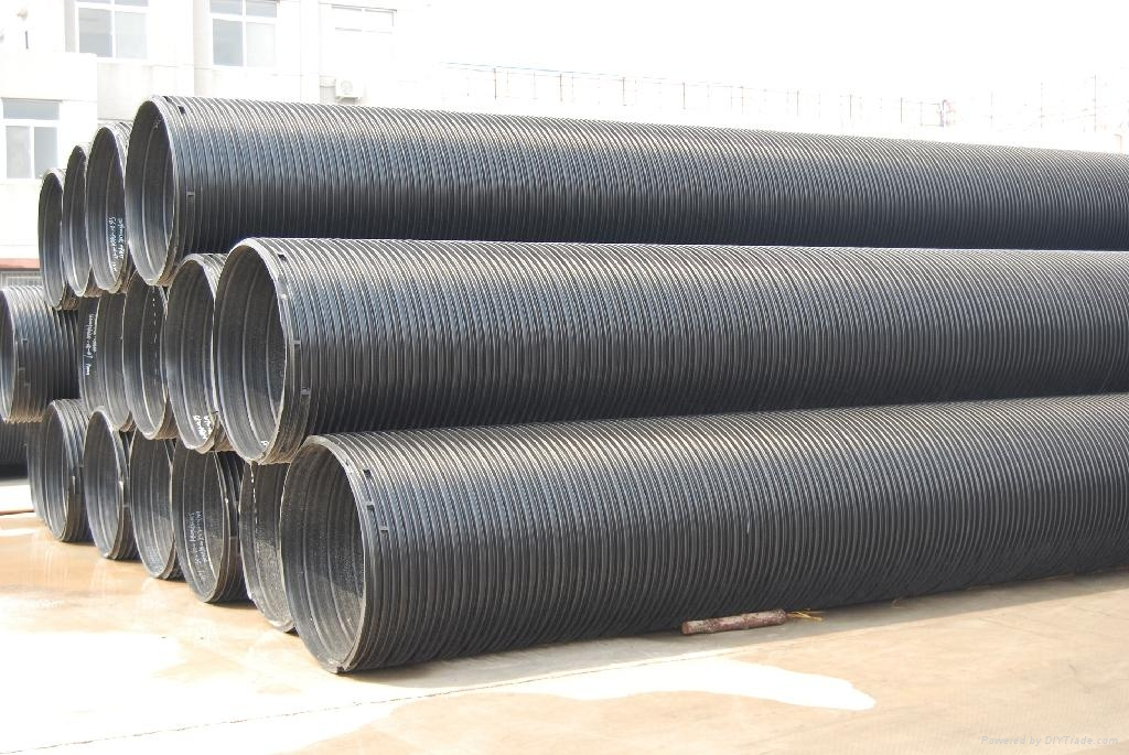 HDPE聚乙烯塑鋼纏繞管 2